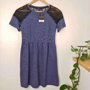 TOPSHOP Lace Shoulder Casual Dress, NWT